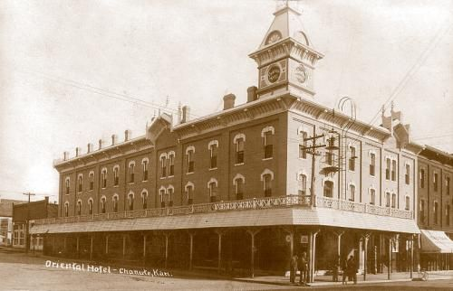 Oriental Hotel Chanute Kansas 1900s
