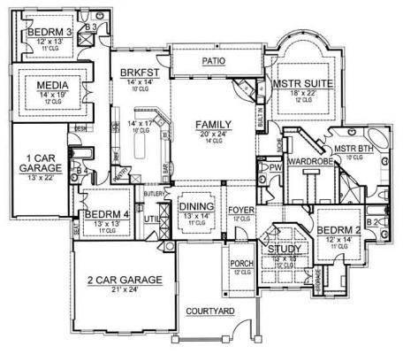 Best selling luxury house plan vanaken estate first floor for Best selling floor plans