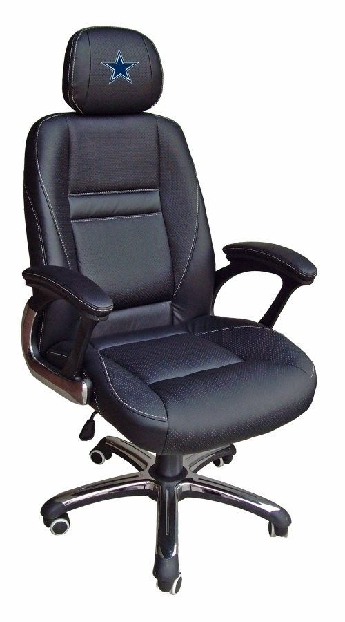 Sensational Dallas Cowboys Head Coach Leather Office Desk Chair Nfl Beutiful Home Inspiration Cosmmahrainfo