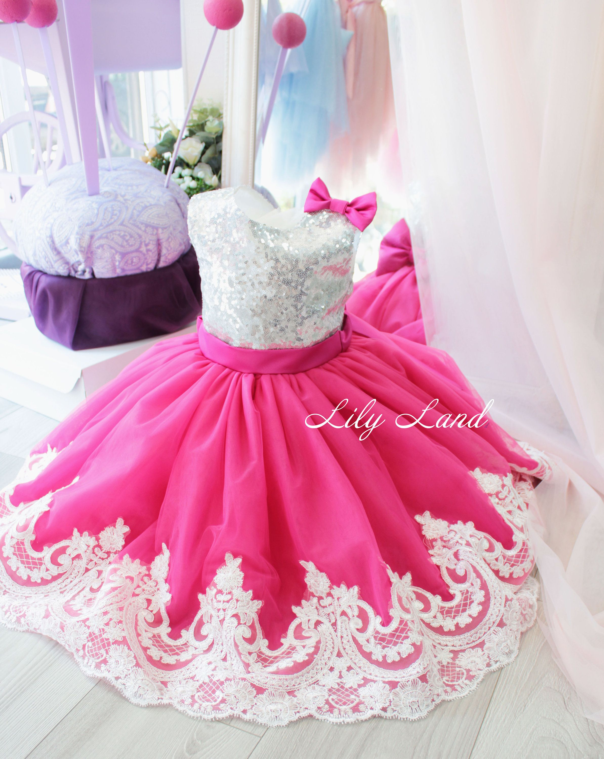 Girl dress bright pink tutu dress girls tutu dress for baby tutu