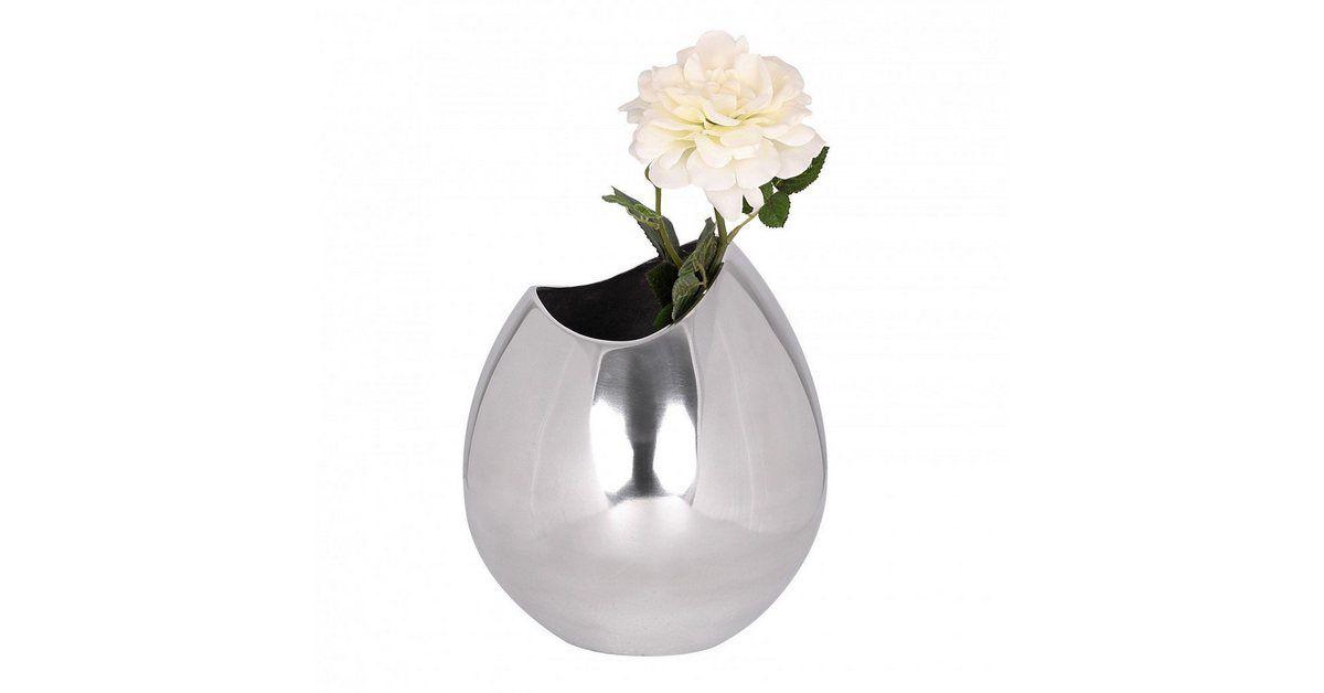 Farbe , Silbern,  Breite , 20 cm,  Tiefe , 20 cm,  Höhe , 25 cm,  Hinweis Lieferumfang , 1 Blumenvase, Lieferung ohne Dekoration,  Lieferumfang , 1 Blumenvase, Lieferung ohne Dekoration,  Lieferzustand , Wird montiert geliefert.,  