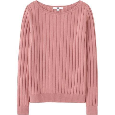 Uniqlo Women's Cotton Cashmere Wide Ribbed Sweater   Sweaters ...