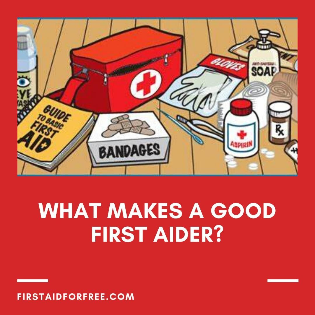 What do you think makes a good first aider?⠀ ⠀
