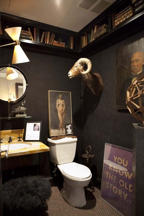 Dark Moody Powder Room