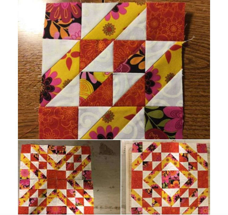 Get the @AccuQuilt GO! Qube! Make blocks like this FAST so you can finish quilts faster!