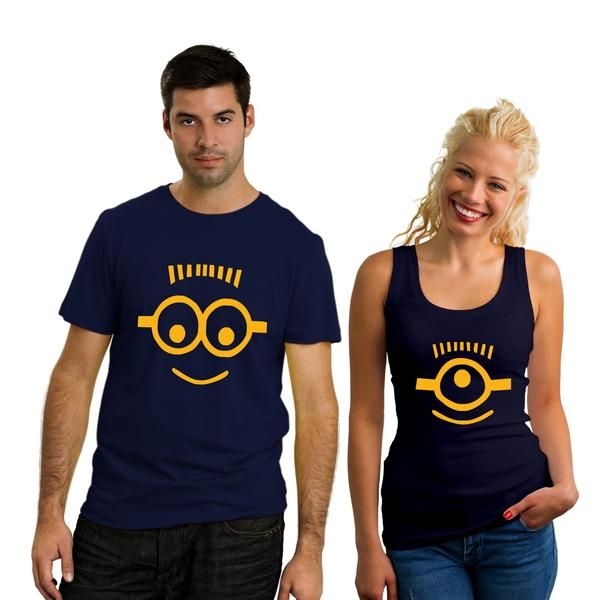 881d48cb9 Minion Couple T-Shirt | Couple T-Shirts by TBhai.com | Minion shirts ...