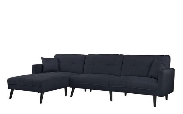 Phenomenal Romulo Mid Century Modern Linen Sleeper Sectional Sofa With Ibusinesslaw Wood Chair Design Ideas Ibusinesslaworg