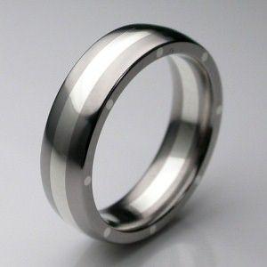 metal geo elipse slim ring in palladium mens wedding rings designer jewellery by stephen - Wedding Rings Mens