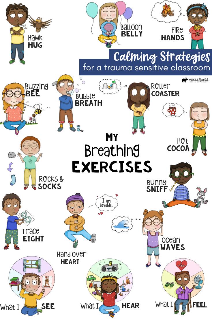 Mindfulness Breathing Exercises Sel Distance Learning Coping Skills Support Exercise For Kids Mindfulness For Kids Calming Strategies