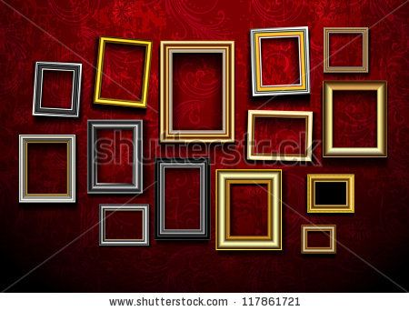 Picture frame vector. Photo art gallery on vintage wall. by Banana Republic images, via ShutterStock