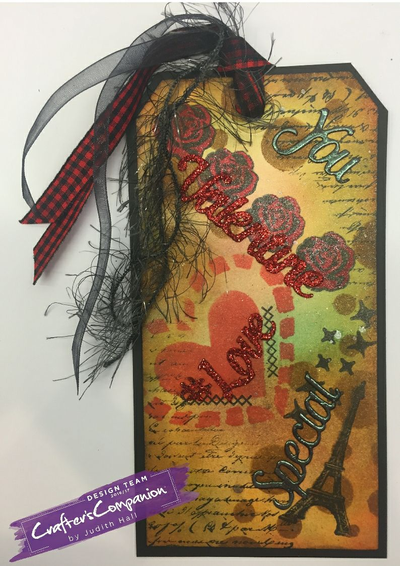 shabby tag distressed word dies #crafterscompanion