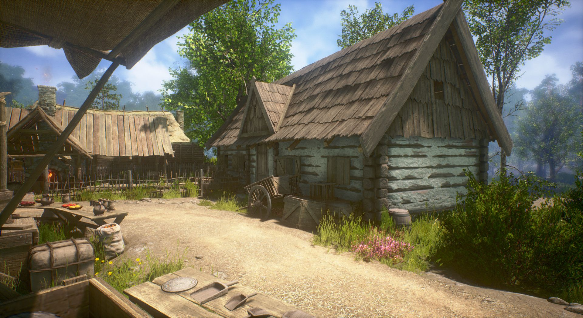 Artstation Medieval Village Map Unreal Engine 4 Robert Luszczki Village Map Medieval Houses Unreal Engine