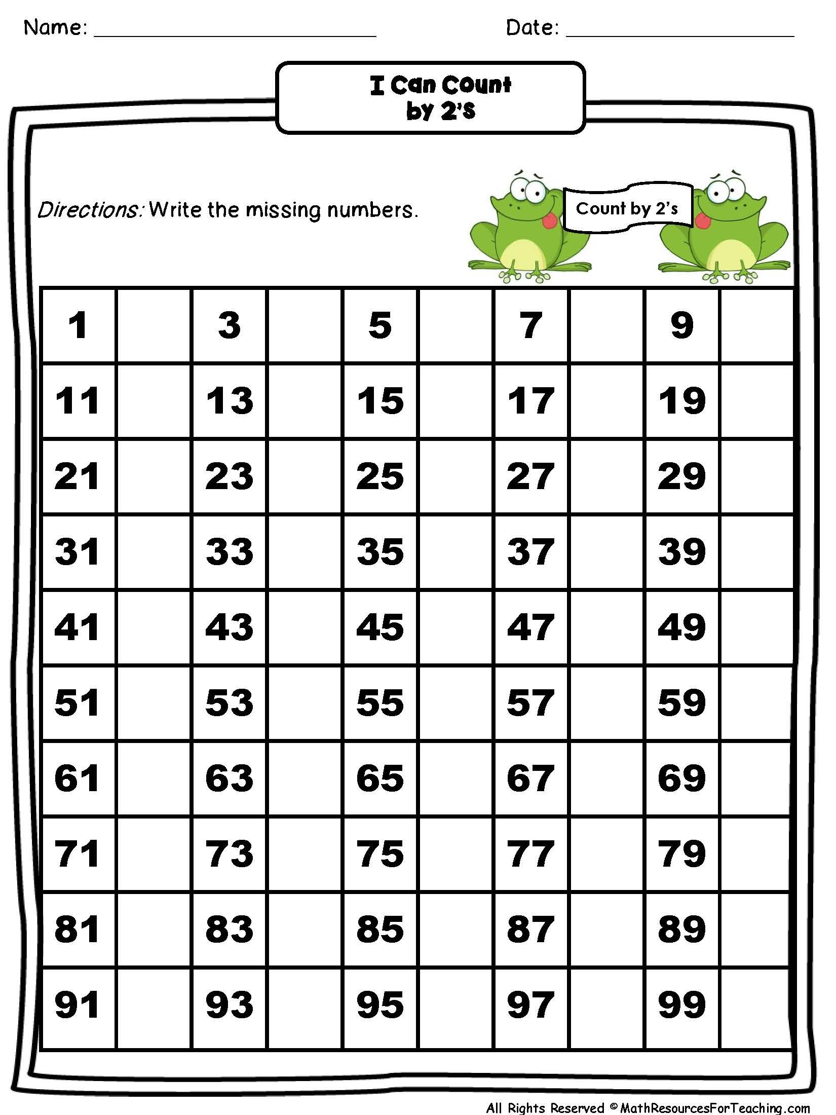 New 519 Missing Number Worksheets 50 100 With Images