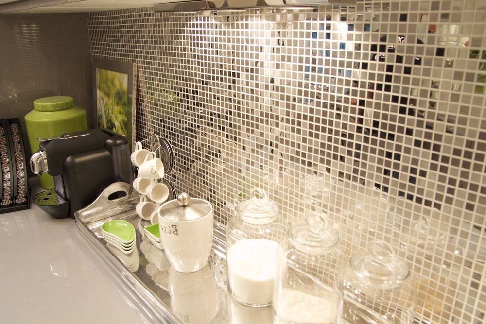 Mirrored Backsplash Ideas Part - 38: Kitchen Backsplash Ideas Mirror Mosaic