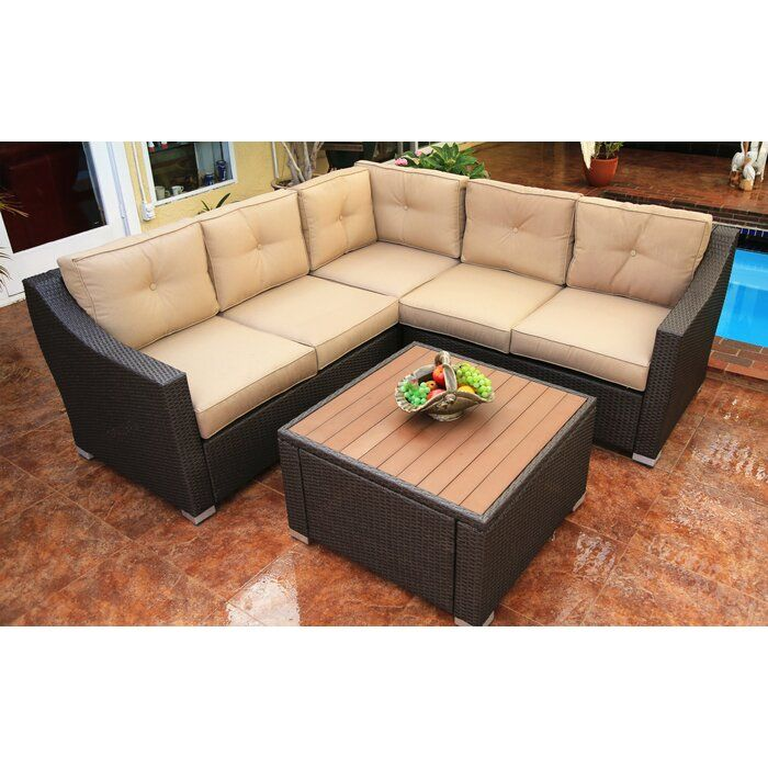 Great Hasan 6 Piece Sunbrella Sectional Seating Group with Cushions best design. Hasan 6 Piece Sunbrella Sectional Seating Group with Cushions very well made  sleek and simple. Complete your living room furniture with a modern Hasan 6 Piece Sunbrella Sectional Seating Group with Cushions. Its charmi #homefurniture #livingroomfurniture #homedecor
