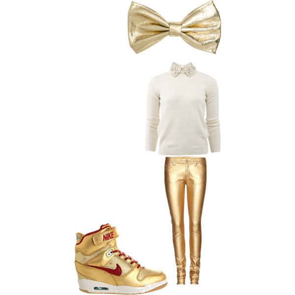 """white and gold"" by jsf2004 on Polyvore"