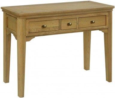 Averne Solid Oak Dressing Table, Oak Barn Furniture