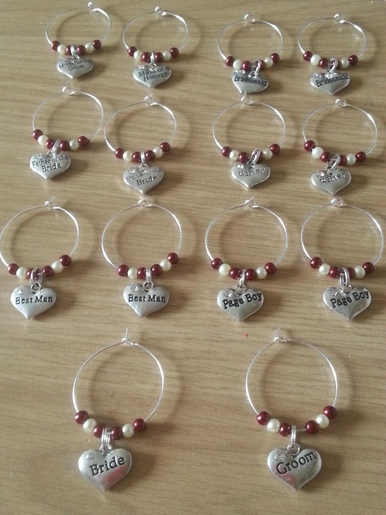 wedding wine glass charms - The Supermums Craft Fair | Wedding Ideas ...