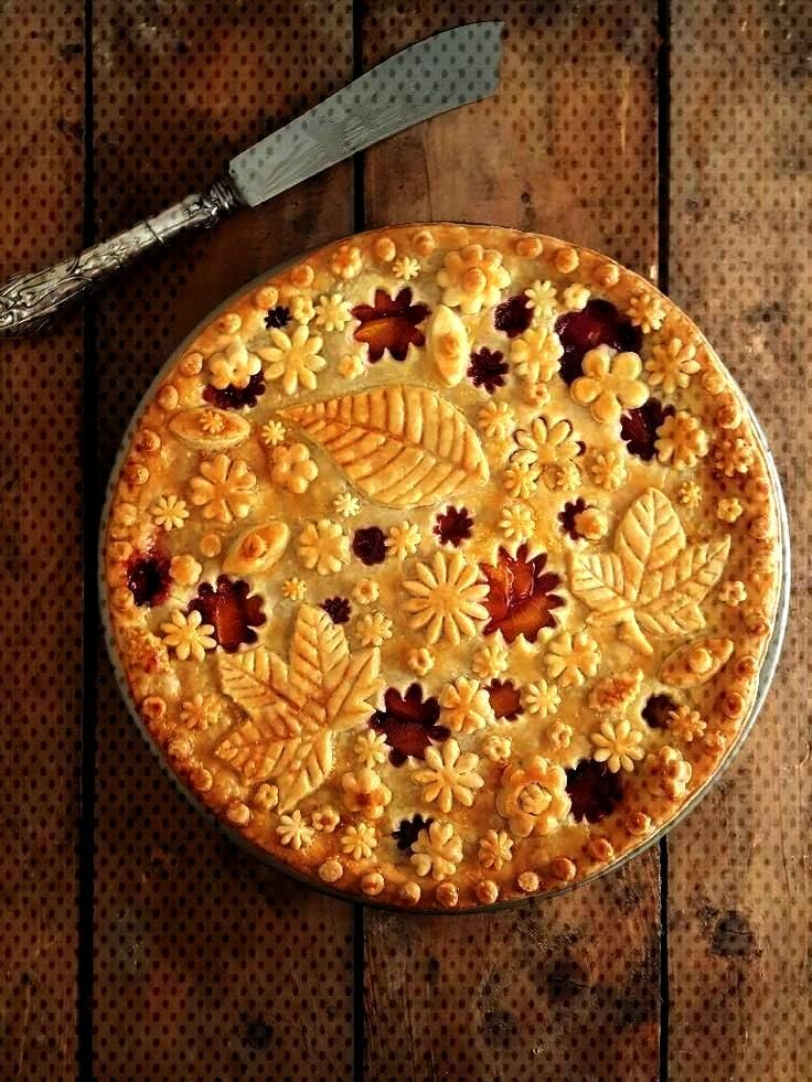 is a new entry from December 1, 2017 In recent times the decoration of pies... -This is a new entry