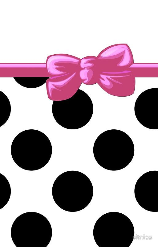 Black And Pink Polka Dot Background