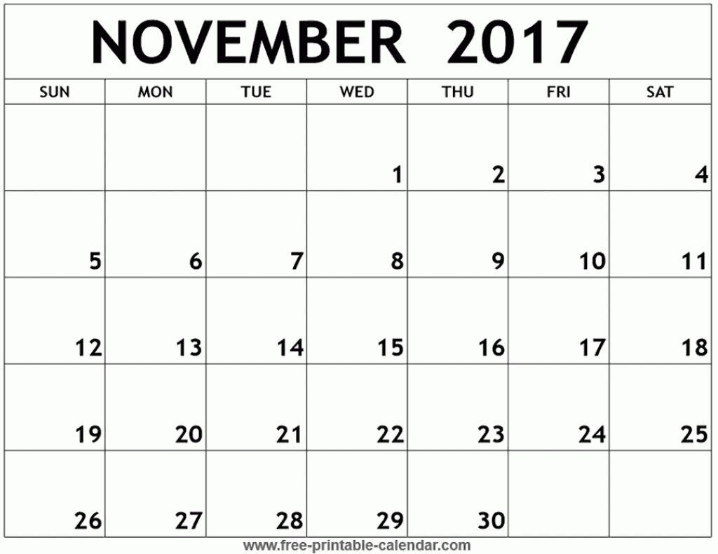 November  Printable Calendar Example  Calendar