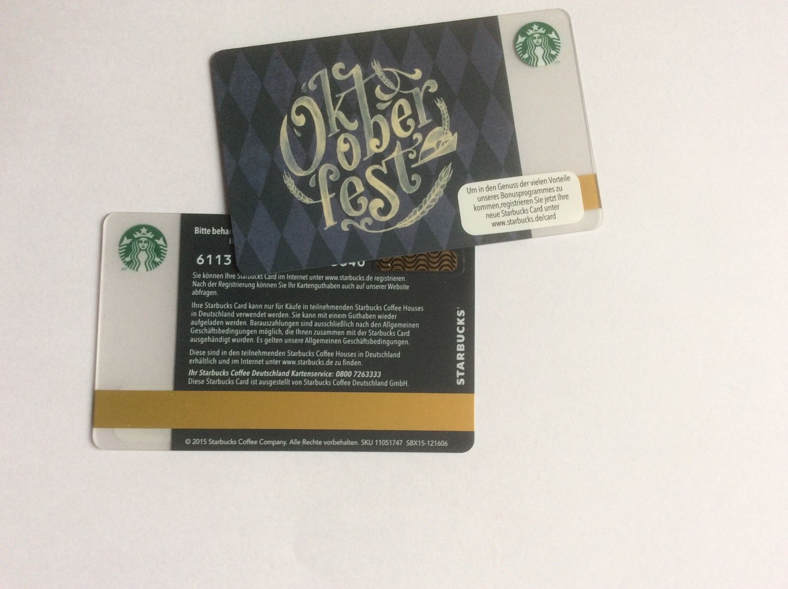 Details About Starbucks Card Germany 6113 Oktoberfest 1st Card Issued To Celebrate An Event Starbucks Gift Card Cards Starbucks