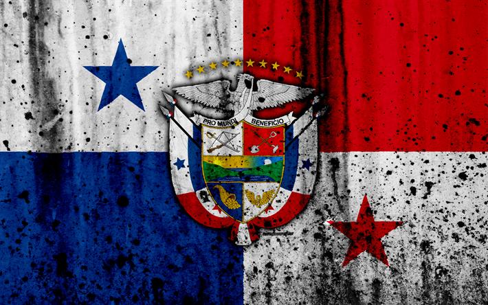 Download Wallpapers Panama Flag 4k Grunge North America Flag Of Panama National Symbols Panama Coat Of Arms Panama Panama National Emblem Besthqwallpape Panama Flag Flag Art Coat Of Arms