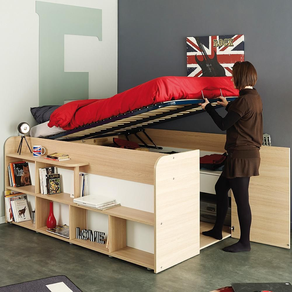 Parisot Space Up Double Storage Bed Bed Design Double Bed With