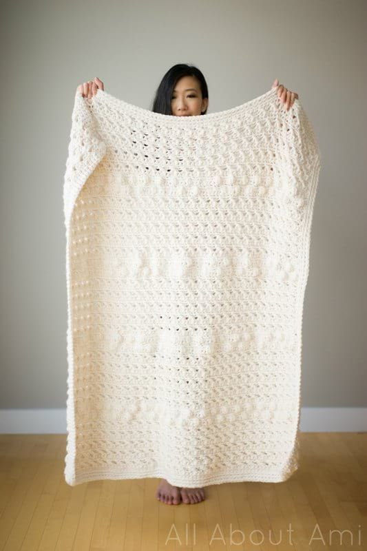Cross Bobble Blanket | Crochet | Pinterest