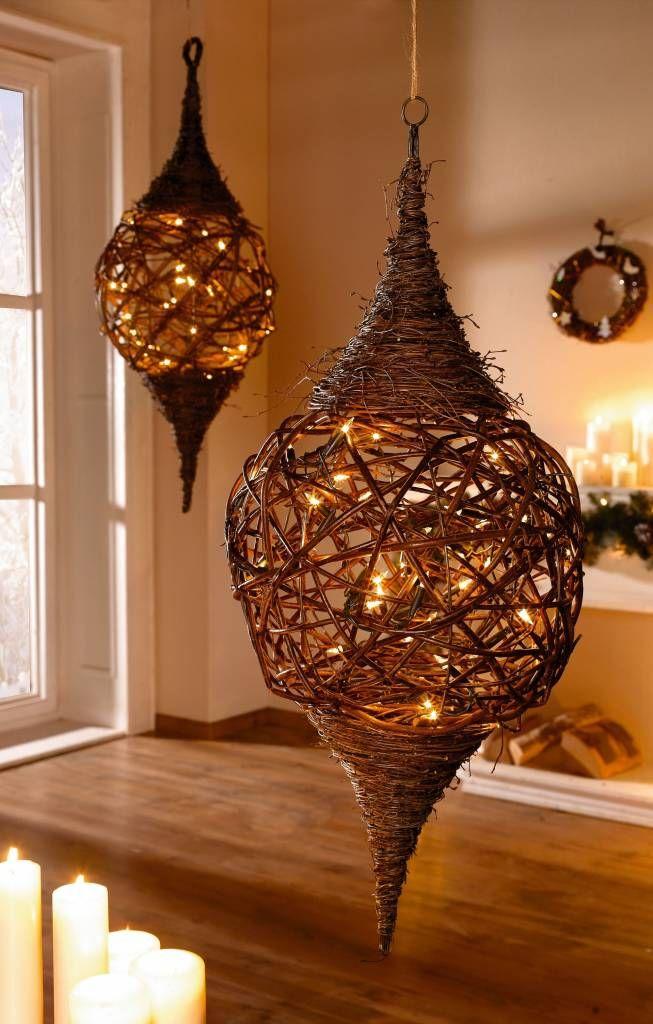 Lichterzapfen Stimmungsvolles Licht Online Kaufen Reisig Weide Weben Lampen Basteln