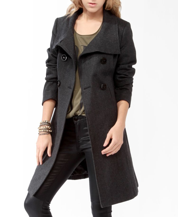 Heavy Wool-Blend Coat | FOREVER21 - 2027705067 - $50 | Jacket Love ...