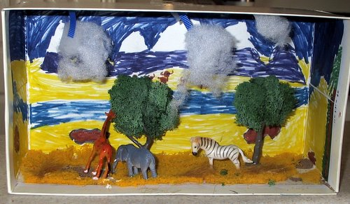 savannah biome diorama Ecosystems diorama, Biomes