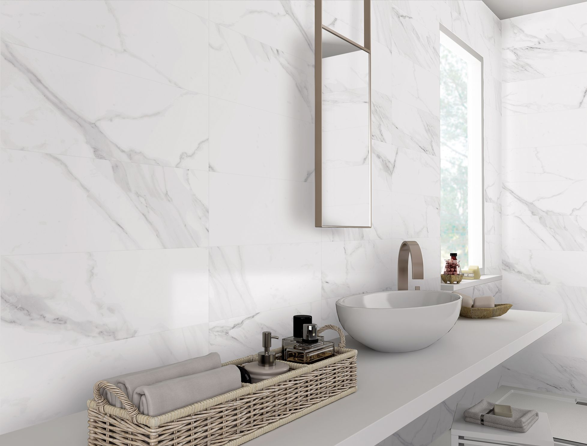White Marble Effect Matt Porcelain Wall And Floor Tile Marble Wall Tiles Marble Tile Bathroom Marble Bathroom Floor
