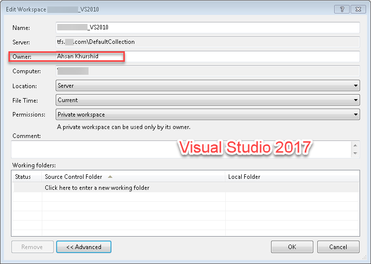 Visual Studio 2010 Connectivity error with TFS! Owner
