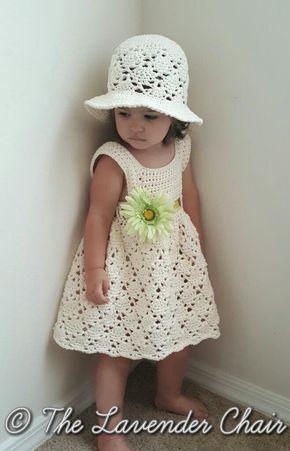 Vintage Sun Hat Infant Child Crochet Pattern The Lavender Chair Crochet Baby Clothes Crochet Baby Dress Vintage Toddler Dress
