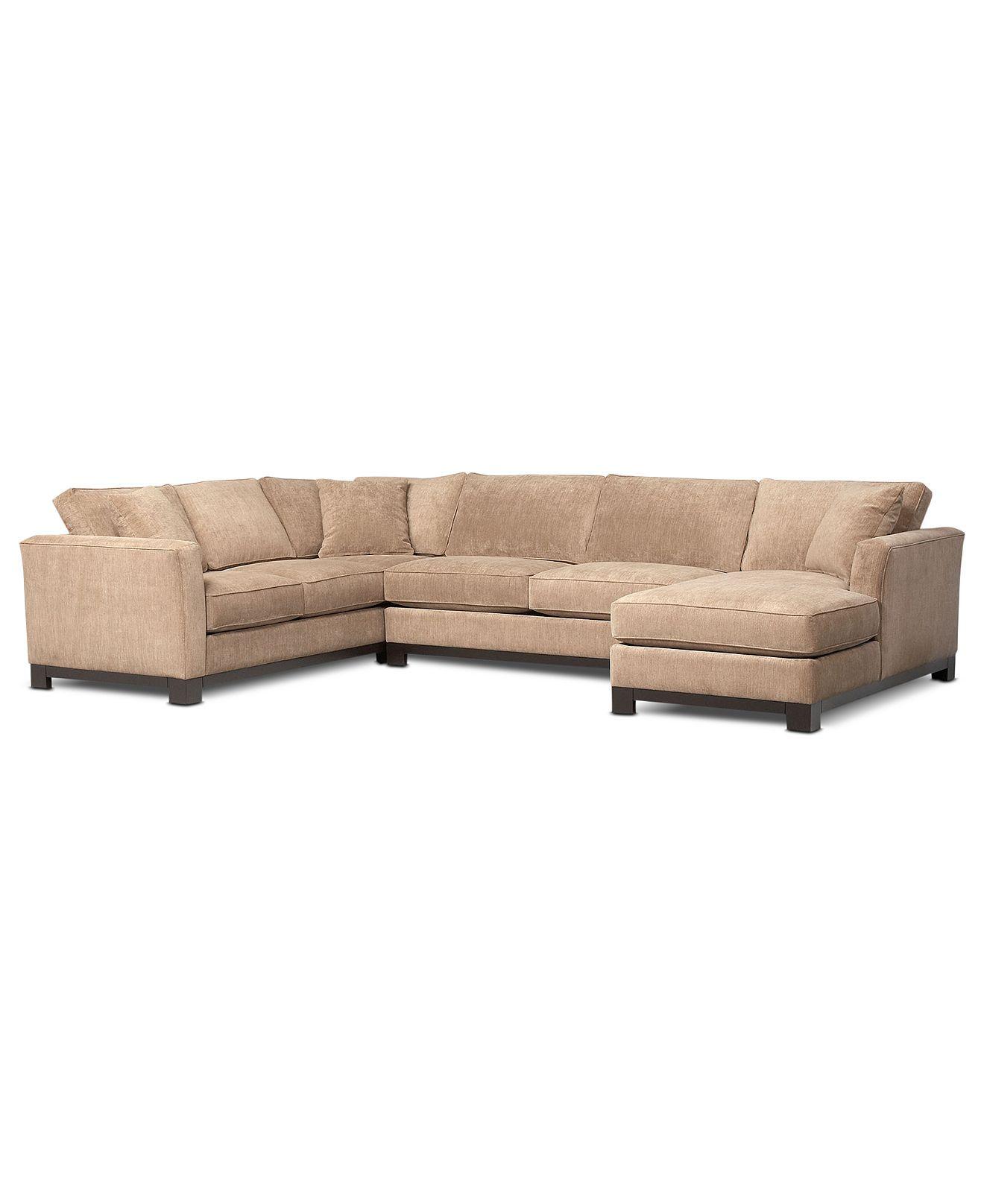 """$1800 Kenton Fabric Sectional Sofa 3 Piece 138""""W x 94""""D x 33""""H"""