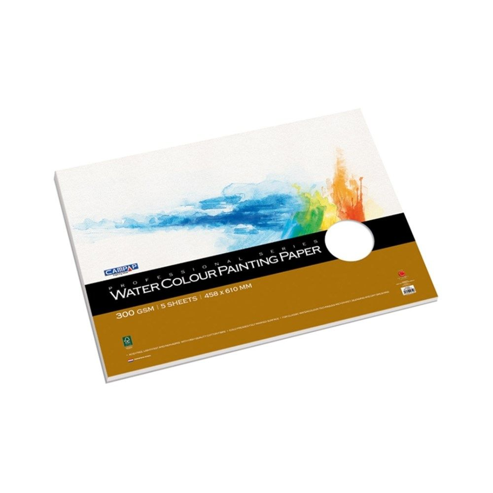 Price Rs 560 Buy Water Color Painting Paper 300 Gsm 5 Sheets