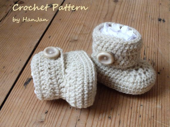 Wrap Around Baby Boots Instant Download Pdf Crochet Pattern 4