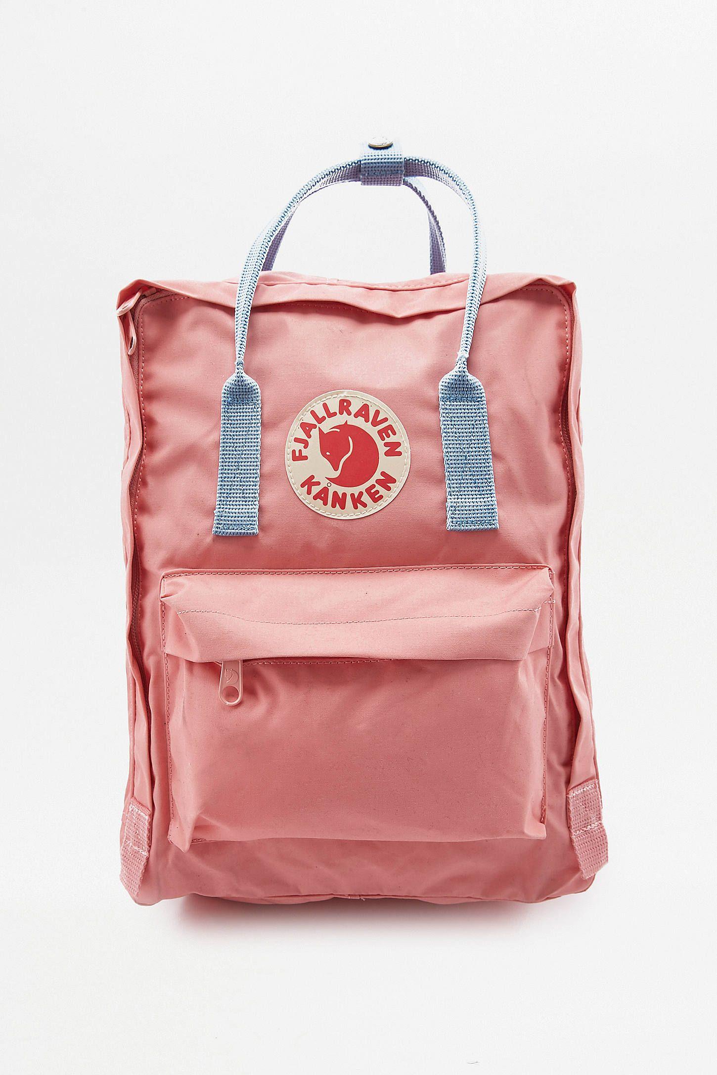Fjallraven Kanken Pink & Air Blue Backpack in 2020