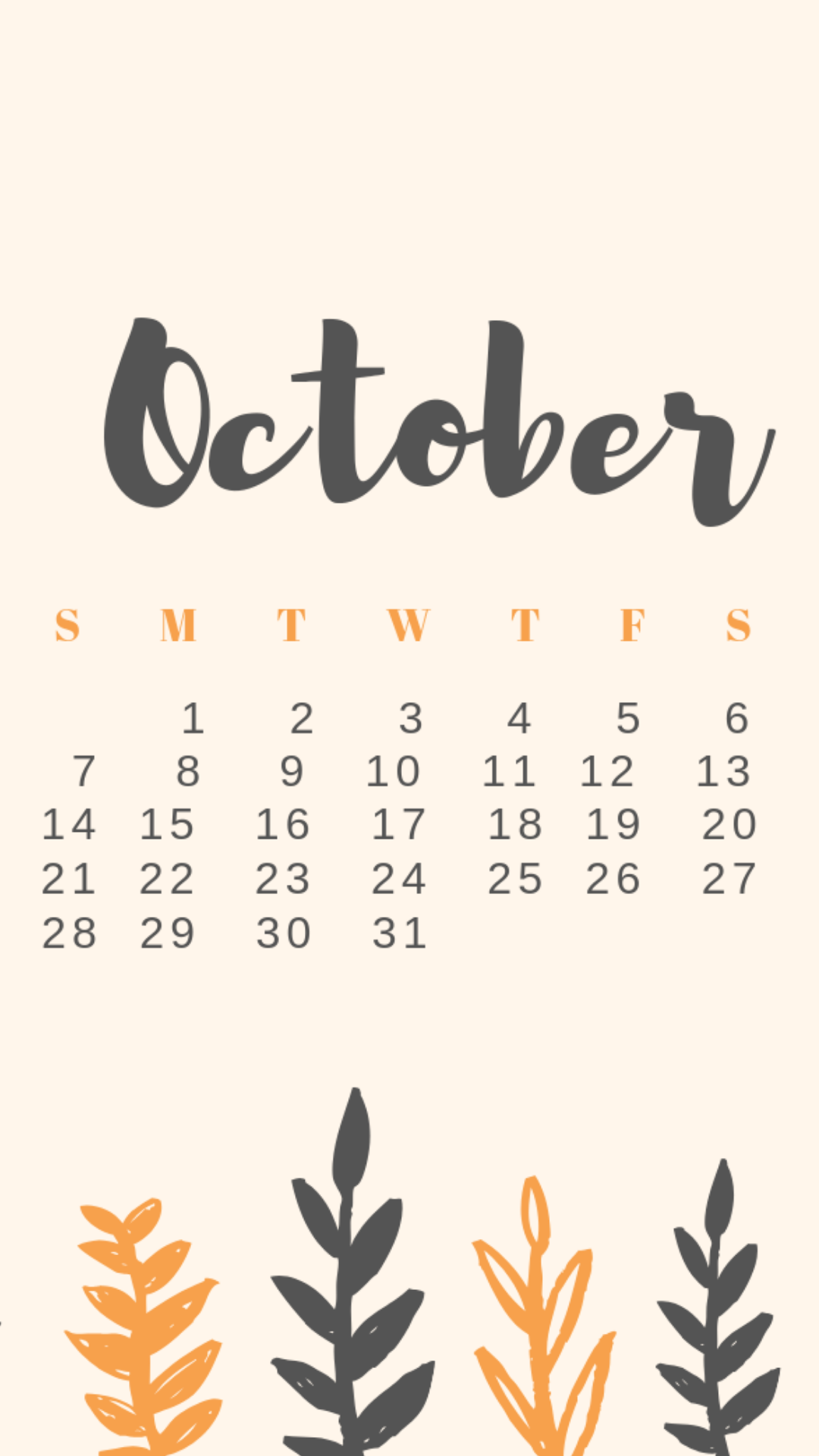 Free Download October Calendars & Wallpapers in 2019