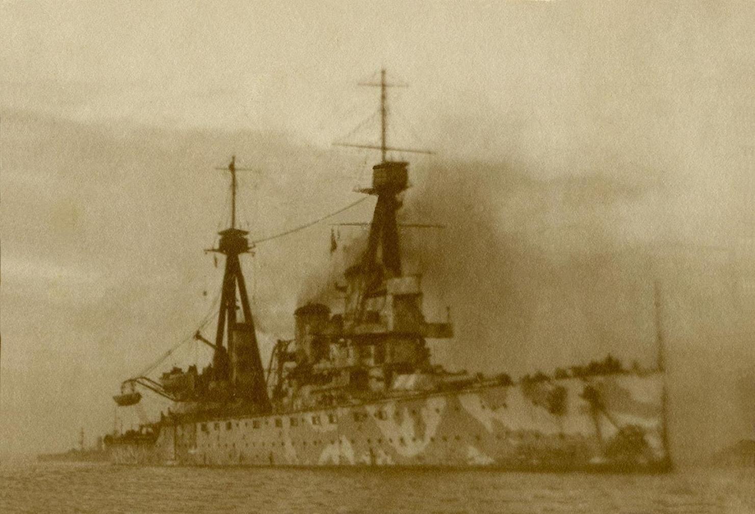 Little known photo of 12 in battlecruiser HMS Indefatigable, taken ...