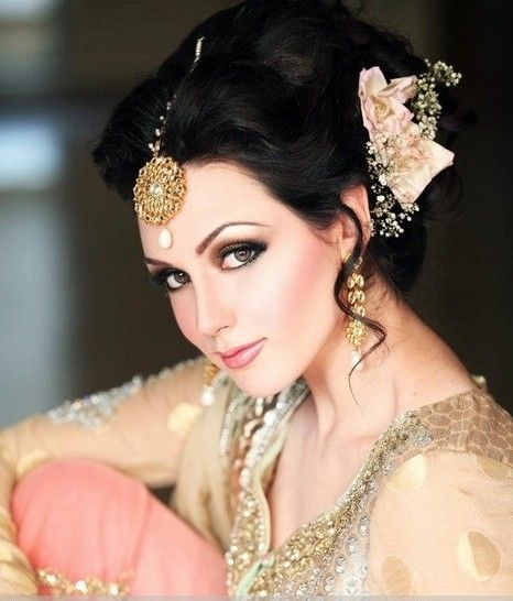 Asian Bridal Hairstyles For Long Hiar With Veil Half Up