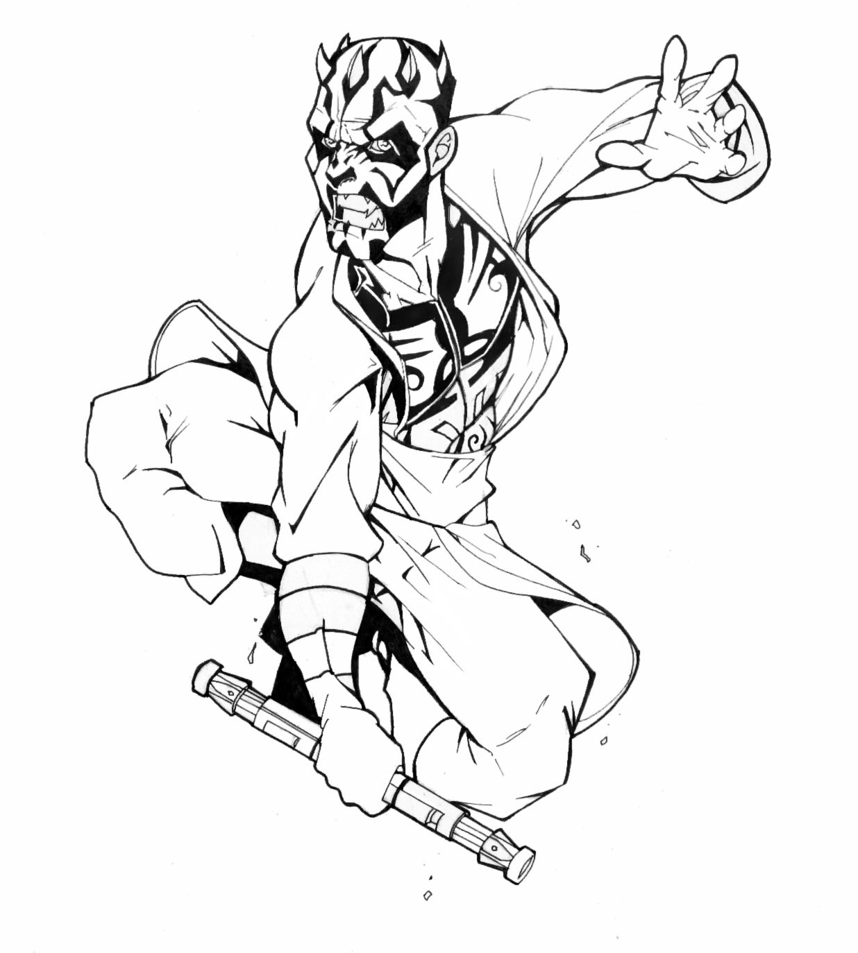 Darth Maul Revised By Thenota Deviantart Com On Deviantart Darth Maul Coloring Pages