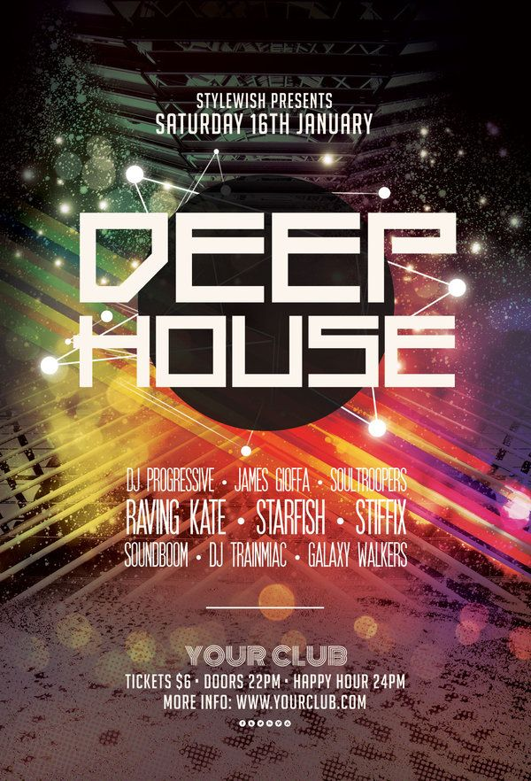 Deep House Flyer By Stylewish On Graphicriver Download The Psd