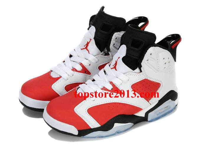 timeless design 9492a 4617a Air Jordan 6 Womens White Black Red