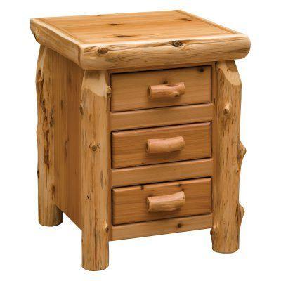 Fireside Lodge Cedar 3 Drawer Nightstand - 11031, FIRE187
