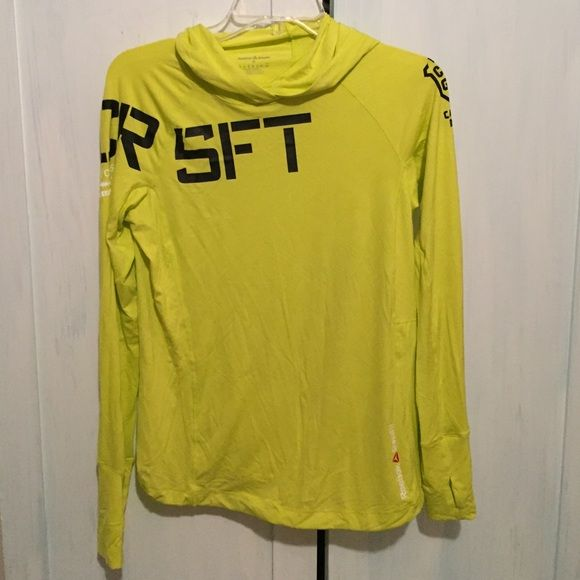 Reebok CrossFit athlete hoodie Brand new, never worn, reebok CrossFit athlete athletic long sleeve. Hooded, thumb holes on sleeves, immaculate condition. Size small Reebok Tops Sweatshirts & Hoodies