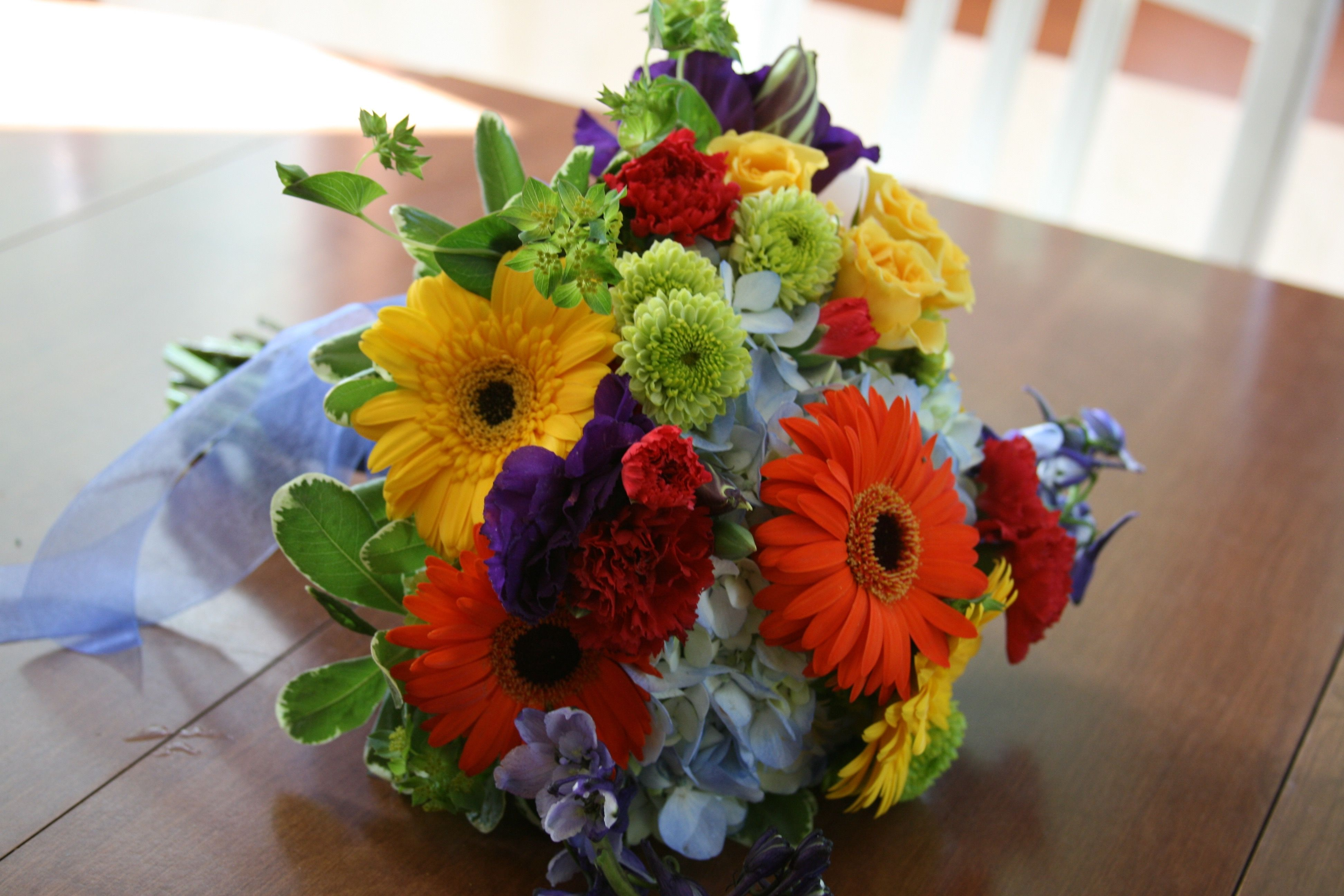 EVERY COLOR OF THE RAINBOW - lots of texture and variety of flowers ...