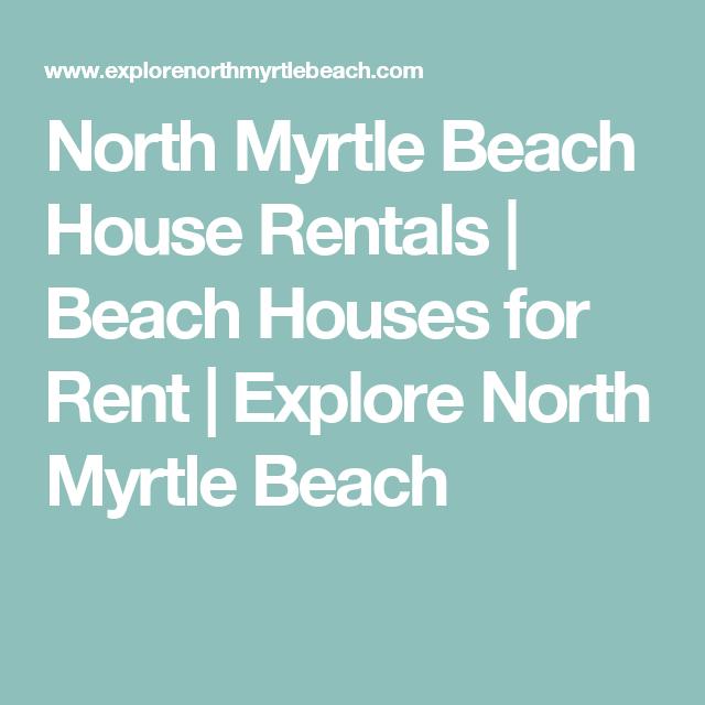 Myrtle Beach Beach Houses For Rent Part - 37: North Myrtle Beach House Rentals