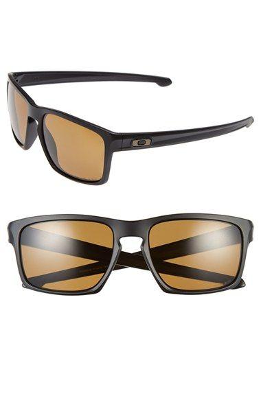black polarized oakley sunglasses 5xfr  Men's Oakley 'Sliver F' 57mm Polarized Sunglasses